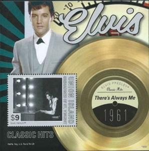 St. Vincent - Elvis, There's Always Me - Stamp Souvenir Sheet SGU1303