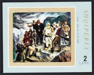 Albania Painting I Lulani 'Partisans in the Mountains' MS SG#MS1484 SC#1394