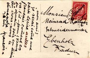 Liechtenstein Austria 10h Austrian Crown Overprinted Deutschosterreich 1919 V...