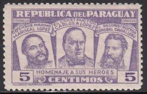 Paraguay, Sc 481,  MNH, 1954, Three National Heros