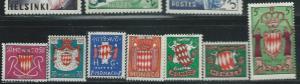 Monaco #312-318  (MH) CV $1.75
