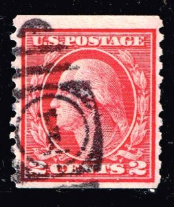US STAMP #454 1914-16 2¢ Washington Type II USED STAMP