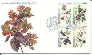 Canada FDC, 2004, Birds, by J.J. Audubon Set 4 (CAFDC2036-9)