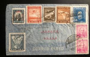 1936 Los Andes Chile Airmail Cover to Zurich Switzerland 2