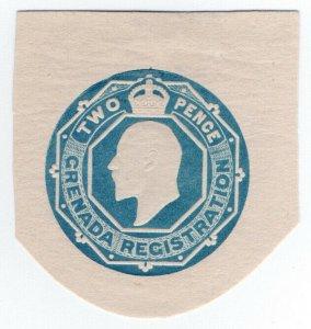 (I.B) Grenada Postal : Stationery Die 2d