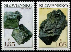 HERRICKSTAMP NEW ISSUES SLOVAKIA Sc.# 801a-b Nature Protection 2018 - Minerals