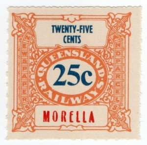 (I.B) Australia - Queensland Railways : Parcel Stamp 25c (Morella)