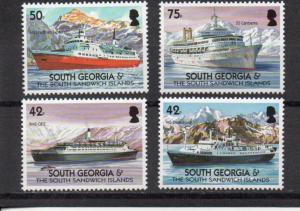 South Georgia 303-306 MNH