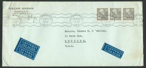 SWEDEN 1953 commercial airmail cover to USA................................60677
