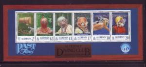 Alderney Sc 118a 1998 Diving Club stamp sheet mint NH