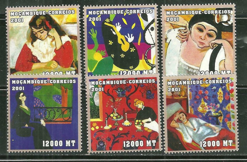 Mozambique mnH 1472A-F Henri Matisse Paintings SCV 8.00