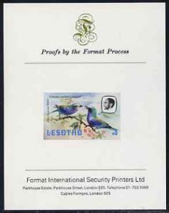 Lesotho 1981 Lilac Breasted Roller M5 imperf proof mounte...