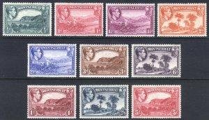Montserrat 1938 1/2d-5s PERF 13 SET SG 101-110 Sc 92a-102a LMM/MLH Cat£170($217)