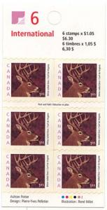 Canada - 2000 $1.05 White-Tailed Deer Booklet #BK239b