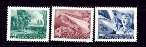 Yugoslavia 283-85 MNH 1950 set