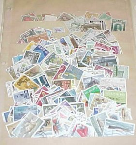 ICELAND 325 DIFF. STAMPS 1876-1993 USED