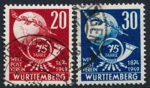 GERMANY WURTTERMBURG 8N40-41 USED