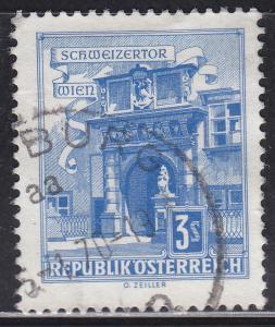 Austria 699 Hinged 1962 Swiss Gate, Vienna
