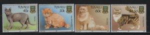 TUVALU, 746-749, (4)SET, MNH, 1997, CATS