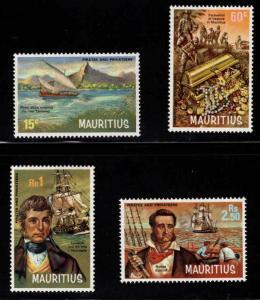 Mauritius MNH 395-8 Pirates & Privateer SCV 10.00