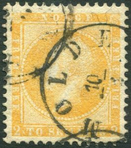 NORWAY-1856-60 2sk Orange-Yellow Sg 4 VERY FINE USED V34781