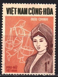 South Vietnam. 1968. 421 from the series. Vietnamese woman, salesman. MLH.