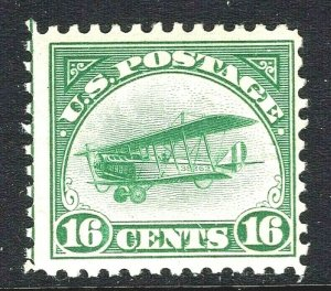 [ST]  US #C2 ~ 1st Air Mail Issue ~ 1918 'Jenny' Mail Plane ~ Mint-NH OG