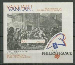 1989 Vanuatu French Revolution Bicent. souvenir sheet MNH