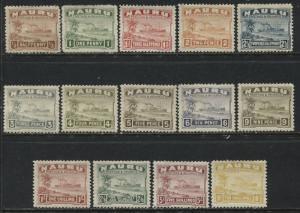 Nauru 1937 1/2d to 10/ complete set on glazed paper mint o.g.