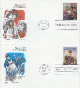 1993 Classic Books Set of 4  (Scott 2785-88) Artmaster FDC