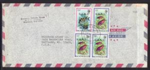 Montserrat to Hartland WI 1983 Official Airmail Cover
