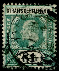 MALAYSIA - Staits Settlements SG11a, 2c yellow-brown, USED. Cat £80.
