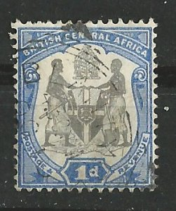 British Central Africa # 43  Coat of Arms  1d. 1897  (1) Used