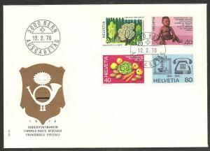 Switzerland 610-3 1976 Special Issues UA FDC