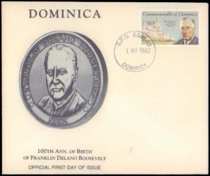 Dominica, Worldwide First Day Cover, Americana