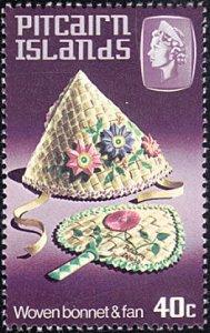 Pitcairn Islands # 197 mnh ~ 40¢ Handicrafts - Bonnet and Fan