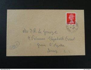 Greve d'Azette postmark on cover Jersey 1969
