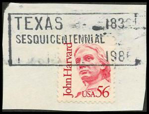 2190 Used Texas Sesquicentennial canc