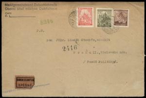 Germany Bohemia Czechoslovakia Prague Commercial Rohrpost Pneumatic Mail C 67525