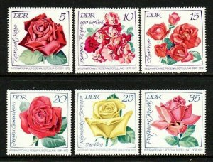 Germany DDR 1378-83 MNH 1972 Various Types of Roses - International Rose EXPO