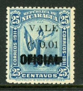 Nicaragua 1914 Liberty Overprint 1¢/25¢ MNH  M483