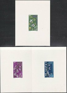 NEW CALEDONIA 1975 Orchids - set of a large die proofs.....................53923