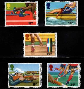 Great Britain Scott 1149-1153 MNH** 1986 Commonwealth games set