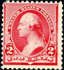 US 220 – 1890 2c Washington. MNH OG Fine.