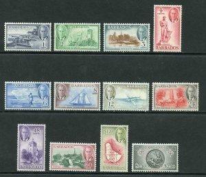 Barbados SG271/82 1950 KGVI Set of 12 M/M