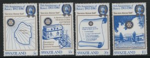 SWAZILAND, 342-345, MNH, 1980, ROTARY INTERNATIONAL