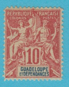 GUADELOUPE 33 MINT HINGED OG *NO FAULTS VERY  FINE !
