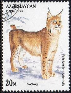 Azerbaijan 466 - Cto - 20m Caucasian Lynx (1994) (cv $0.60) (1)