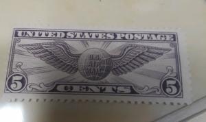 USA 5c Violet Airmail MNH