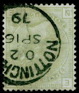 SG153Wi, 4d sage-green plate 16, FINE USED, CDS. Cat £625. WMK INV. NE